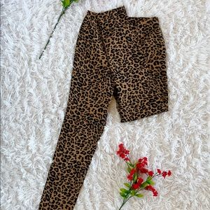 Leopard Stretch Skinny Leg Pants